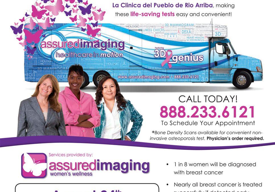 Mammograms coming to La Clinica del Pueblo – August 24th